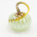 Handblown Glass Pumpkin in Spring Green
