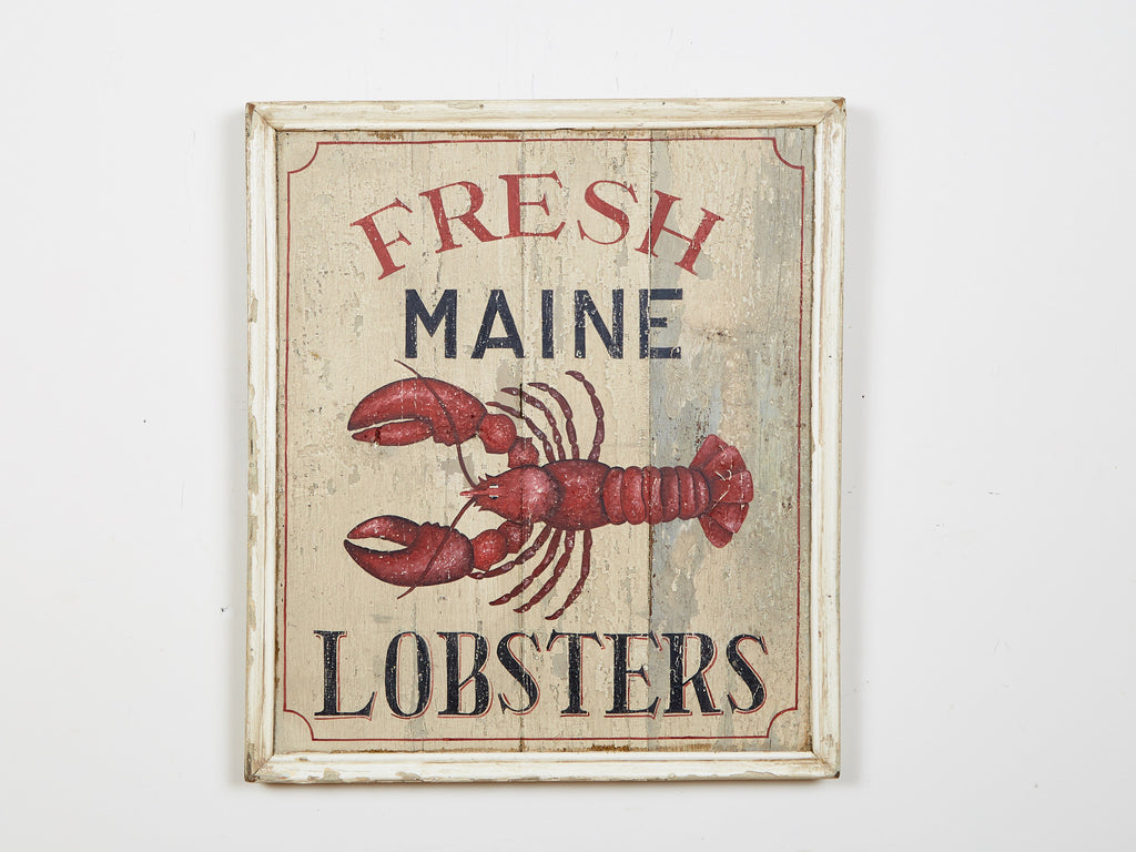 Maine Lobsters Square Americana Art