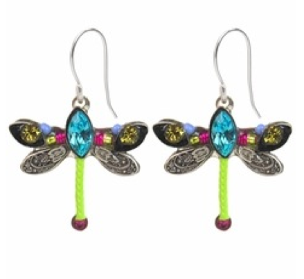 Multi Color Petite Dragonfly Earrings by Firefly Jewelry