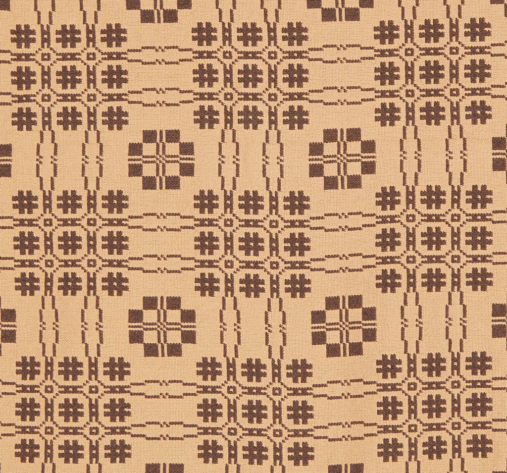 Primrose Path Queen Coverlet in Brown with Tan