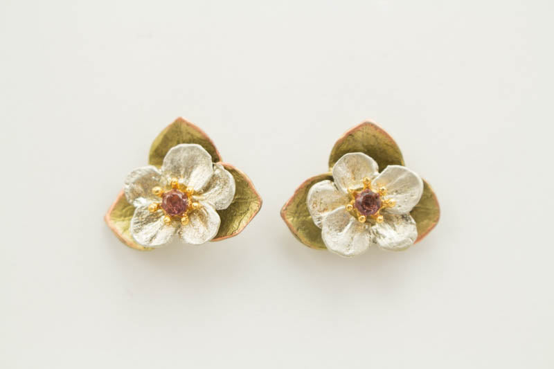 Survivor Tree Flower Stud Earrings