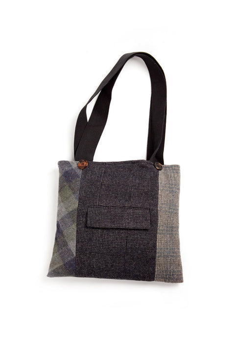 Wool Tote in Denim