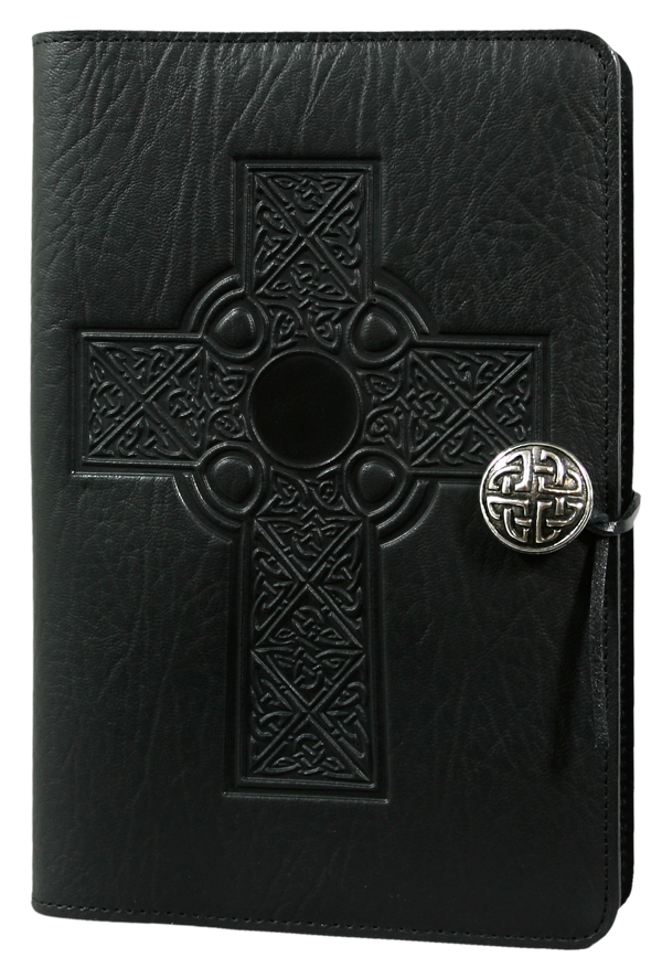 Celtic Cross Large Journal in Black