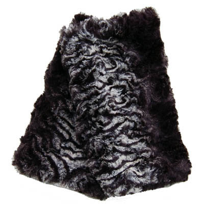 Smokey Essence Luxury Faux Fur Fingerless Gloves
