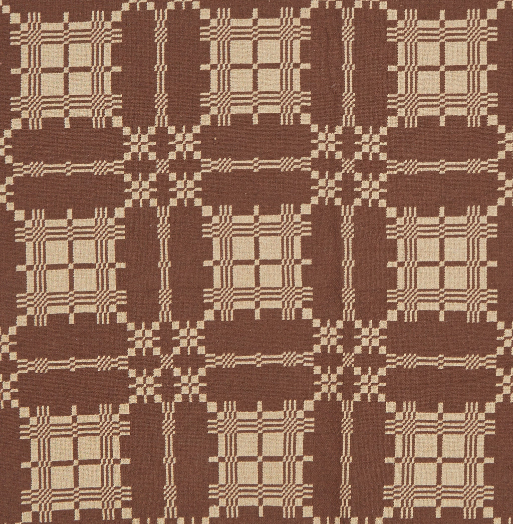 Stonington Charm Queen Coverlet in Brown