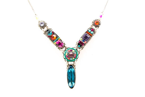 Multi Color Petite Dolce Vita Y Necklace by Firefly Jewelry