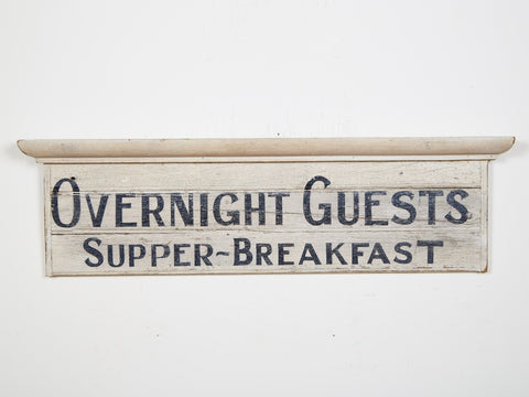 Overnight Guests Sign Americana Art