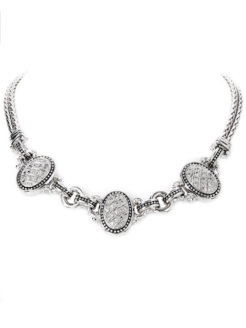 "3 Station Pave 16"" Necklace by John Medeiros"
