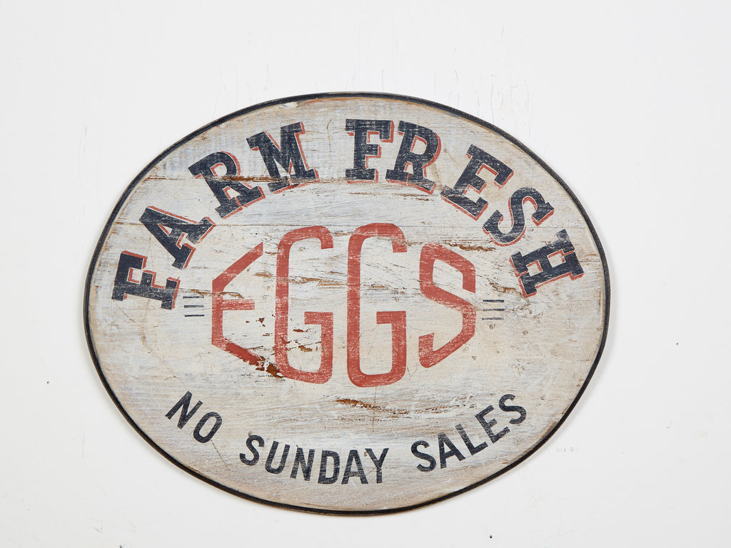Farm Fresh Eggs Oval Americana Art