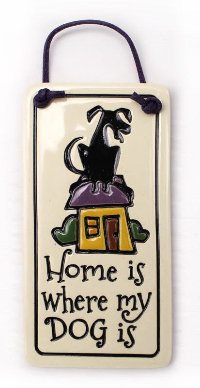 Where Dog Is Charmer Ceramic Tile