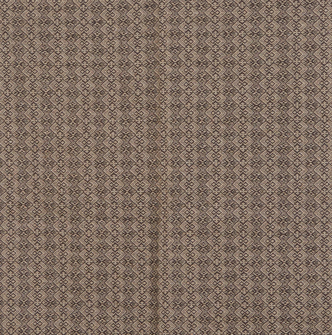 Jacob's Cross Long Table Runner in Brown with Beige
