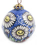 Daisy Chain Small Bulb Ceramic Ornament
