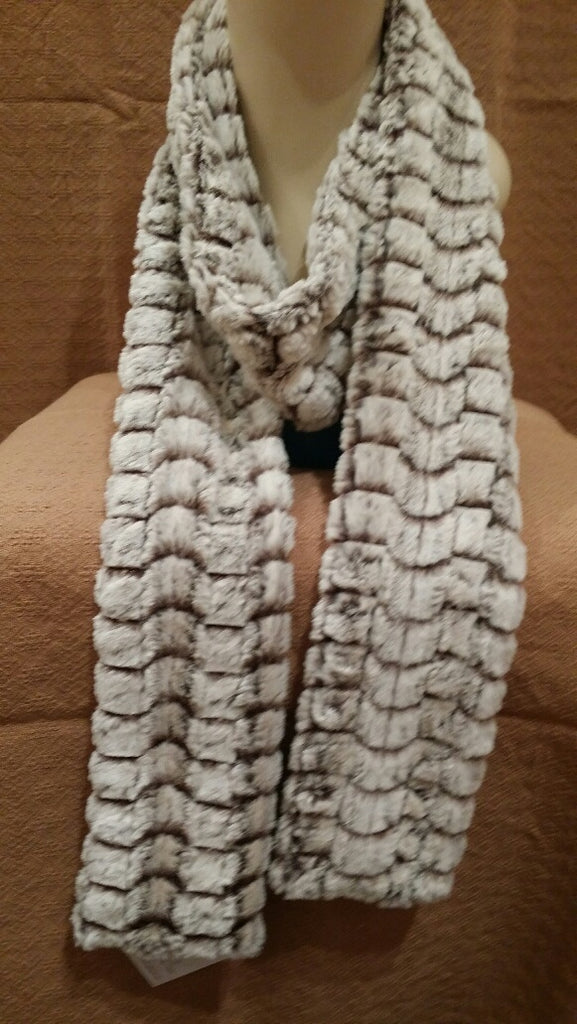 Snow Flurry Luxury Faux Fur Skinny Scarf