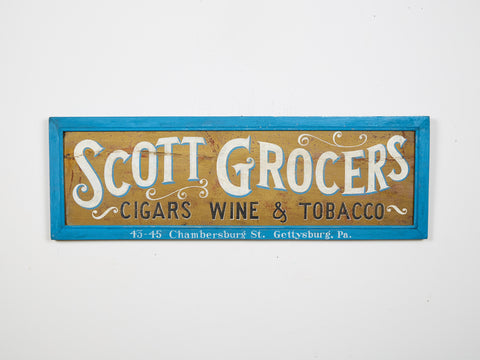 Scott Groceries Sign Americana Art
