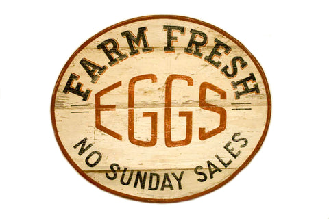 Farm Fresh Eggs Oval (A) Americana Art