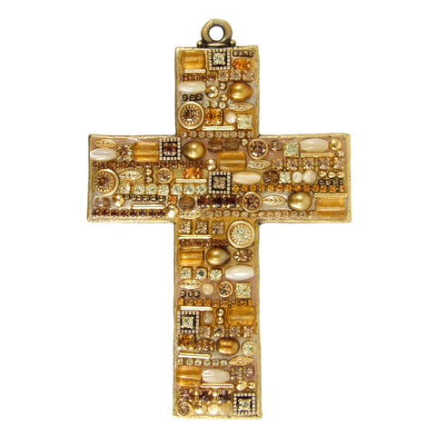 Gold Pearl Wall Cross
