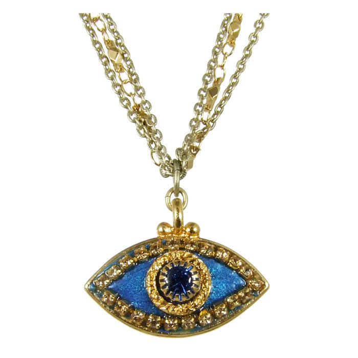 Blue Eye with Blue Center Necklace
