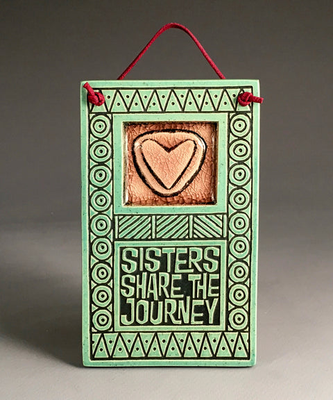 Sisters Share Journey Glass Tile