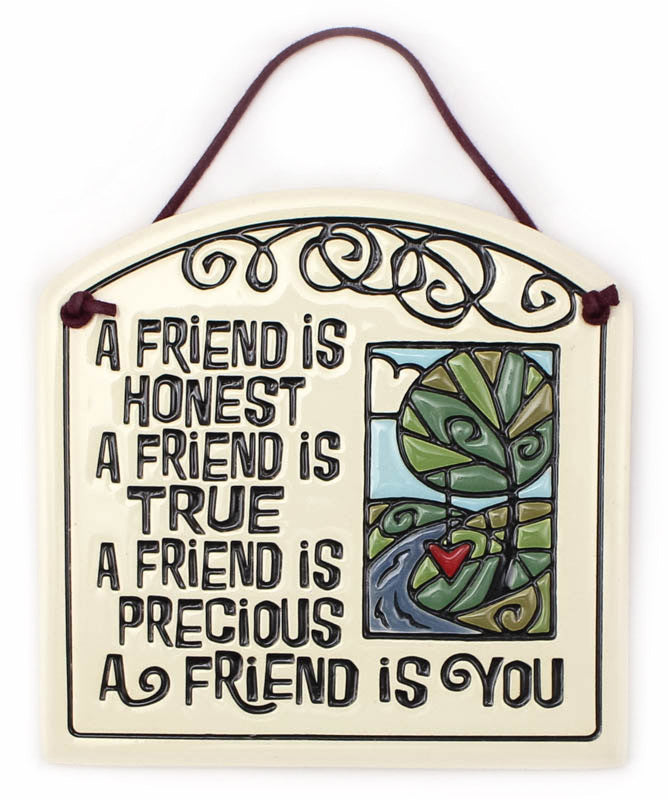 A Friend Is You Small Arch Ceramic Tile