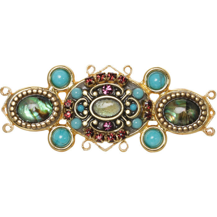 Turkish Bazaar Ovals Pin by Michal Golan