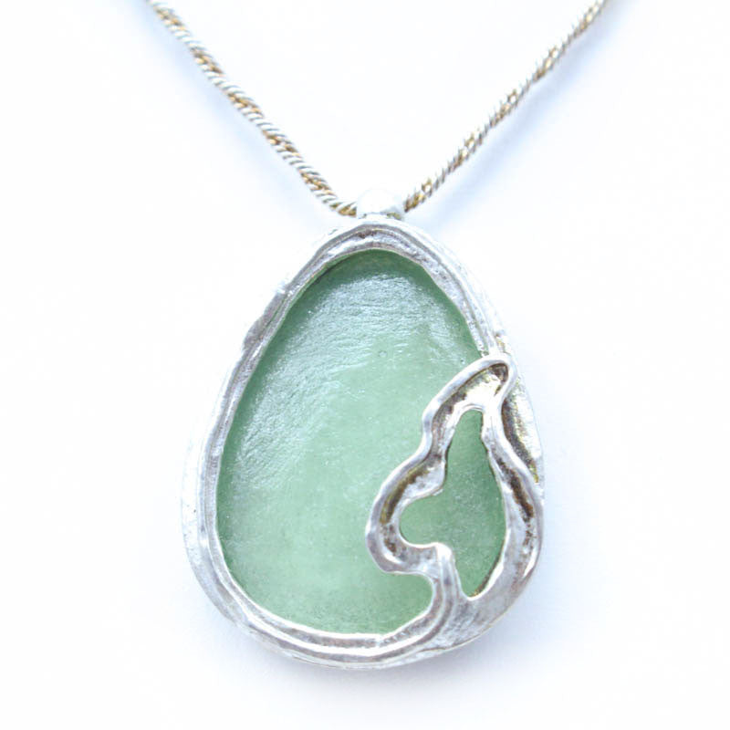 Gentle Waters Washed Roman Glass Necklace
