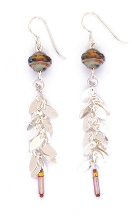 Satellite Leaf Long Dangle Earrings by Desert Heart