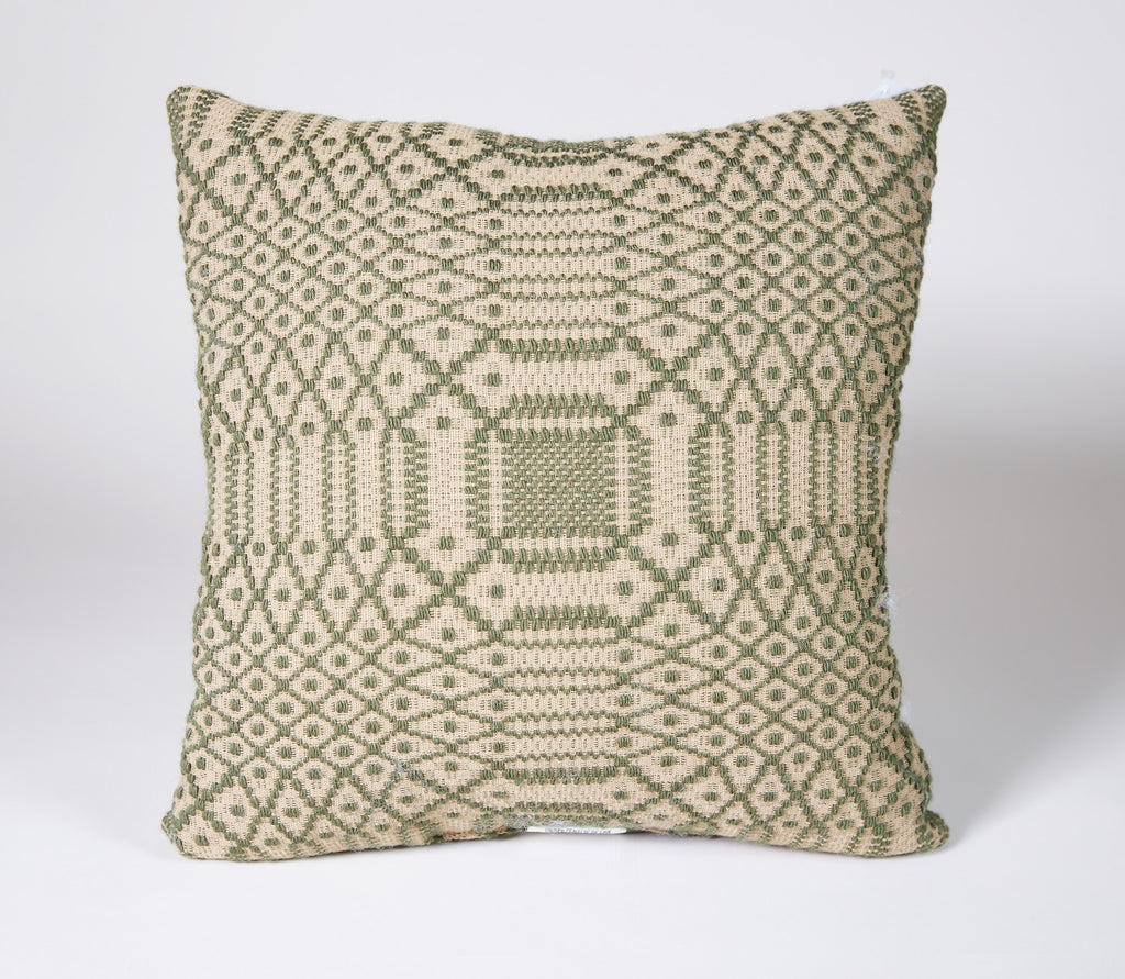 Governor's Garden Pillow in Green, 14x14