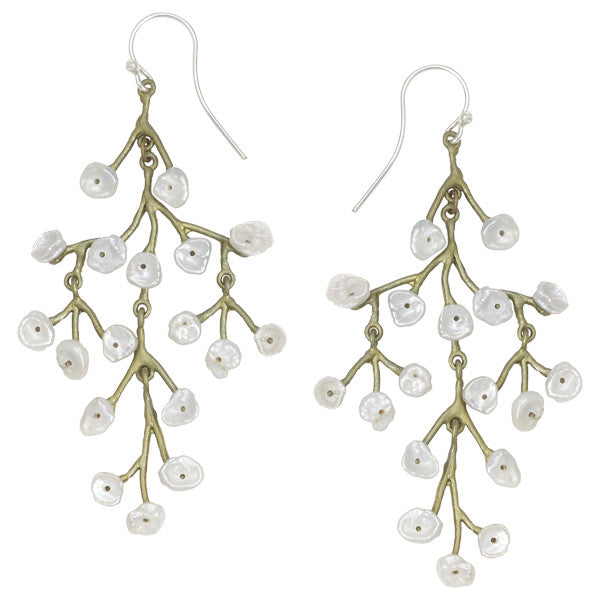 Baby's Breath Chandelier Earrings by Michael Michaud