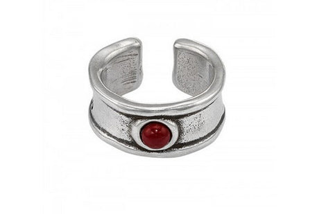 Freemotion Ring in Red: Size 7.5