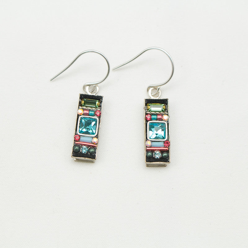 Erinite La Dolce Vita Rectangle Earrings by Firefly Jewelry