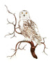 Snowy Owl on Branch Wall Art by Bovano Cheshire
