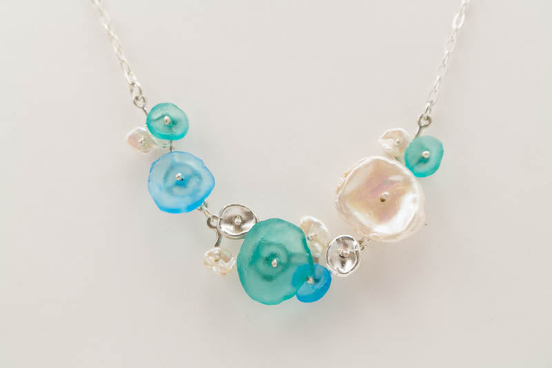 Drift Away Pebble 16 inch Adjustable Necklace