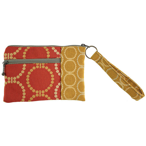Maruca Beetle Wristlet in Linked Orange