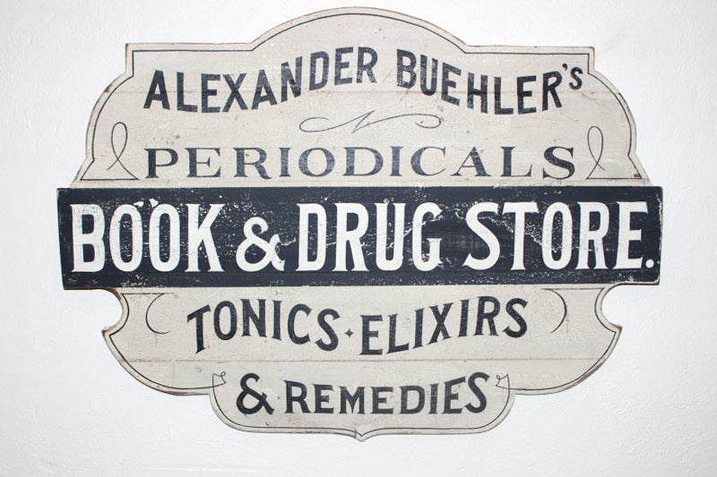 Alexander Buehler's Periodicals Book and Drug Store Americana Art