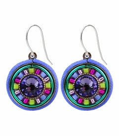 Tanzanite La Dolce Vita Round Earrings by Firefly Jewelry