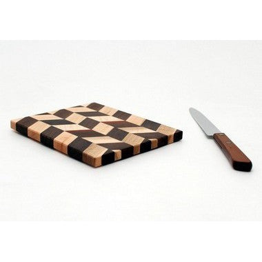 "Large Checkered Trivet in Maple - Size 5""x6"""