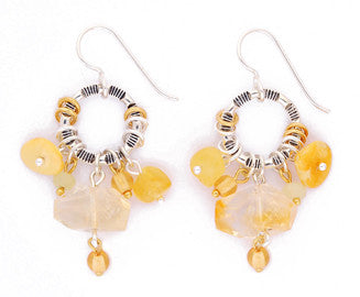 Citrine African Opal Earrings by Desert Heart