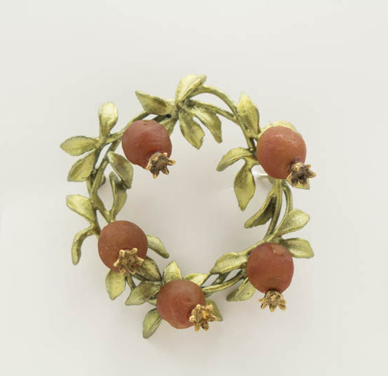Pomegrante Brooch