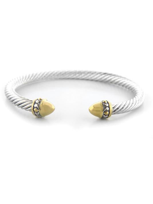 Nouveau Gold Dome Bullet Wire Cuff by John Medeiros