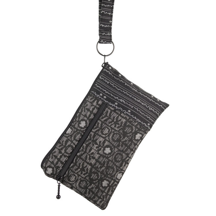 Maruca Beetle Wristlet in Hedge Black