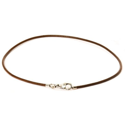 Brown Leather Necklace by Trollbeads, 16.5 Inches