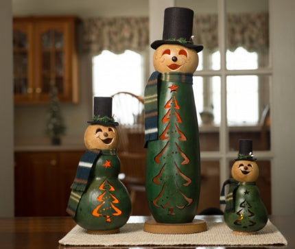 Evergreen Snowman Gourd - Available in Multiple Sizes