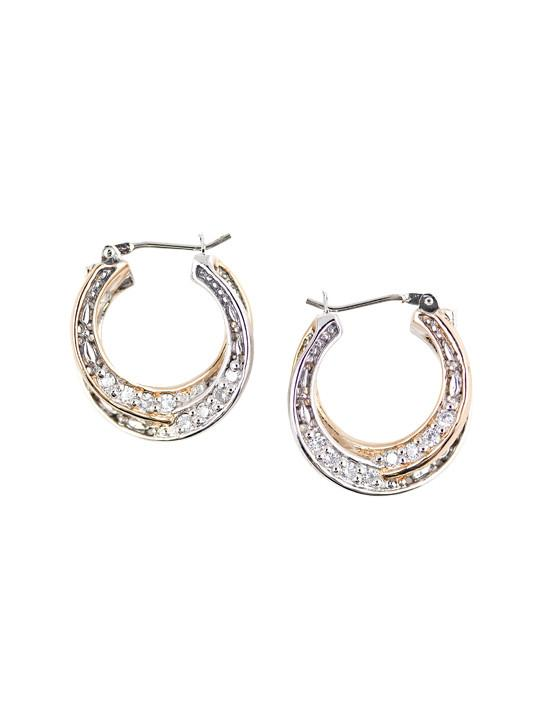 Lattice Collection, Palermo Edition, Pave CZ Layer Hoop Earrings by John Medeiros
