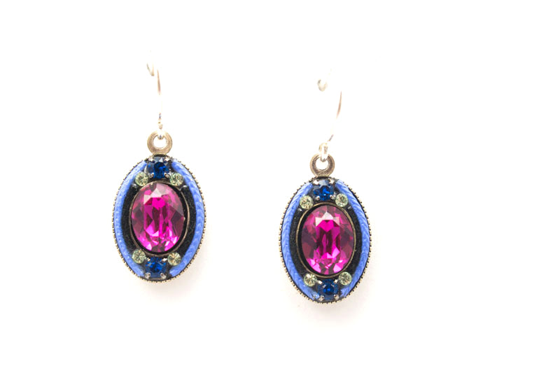 Bermuda Blue La Dolce Vita Oval Earrings by Firefly Jewelry