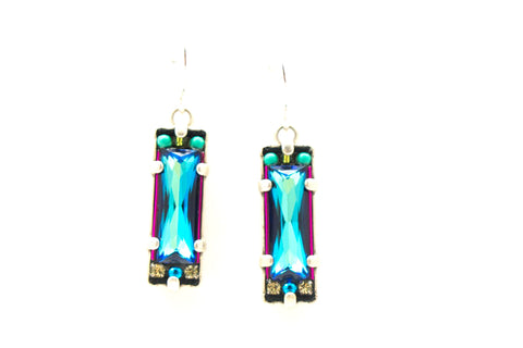 Bermuda Blue Crystal Earrings by Firefly Jewelry