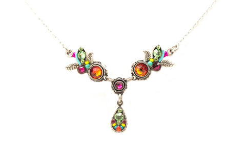Multi Color Botanic Necklace by Firefly Jewelry