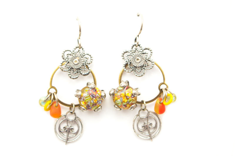 Neon Flowers Earrings by Desert Heart
