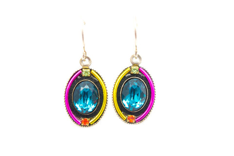 Multi Color La Dolce Vita Oval Earrings by Firefly Jewelry