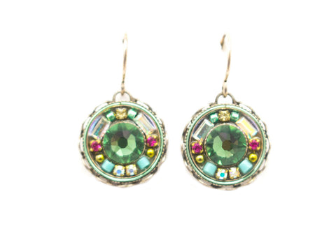 Erinite Vintage Round Earrings by Firefly Jewelry