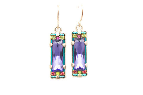 Tanzanite Crystal Earrings by Firefly Jewelry